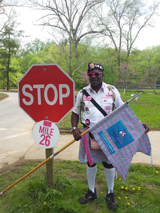 Larry Tyson completed a 100-mile biathlon May 4, raising more than $1,800 for breast cancer research.