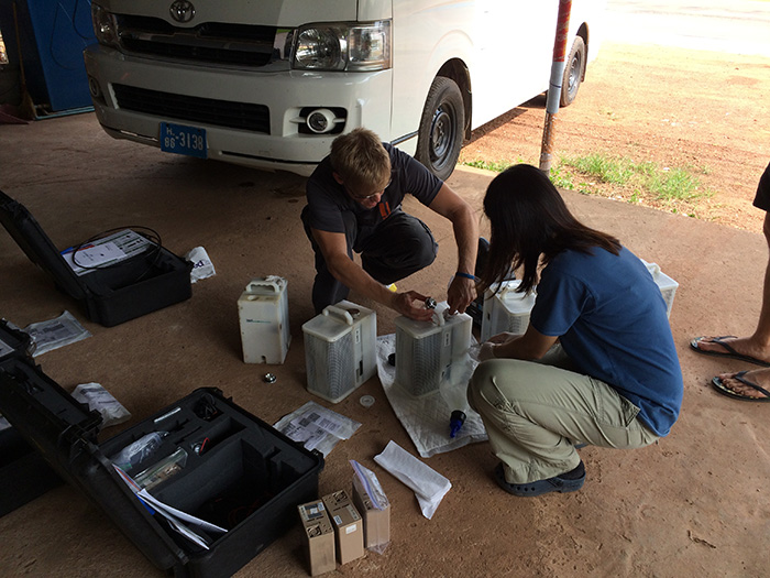 Prepping CUBE CDG generators at the field lab in Kamphaeng Phet