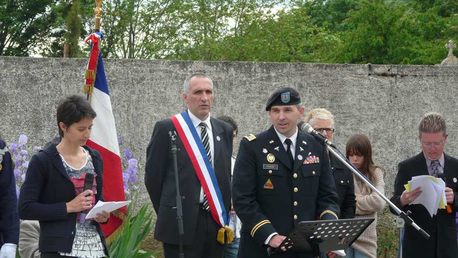 CPT Jeffrey Froude at WWII memorial event in France