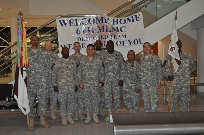 Six soldiers from 6th MLMC Detachment 12 arrived home Oct. 10