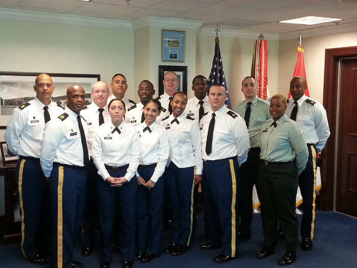 6th MLMC soldiers toured the Pentagon