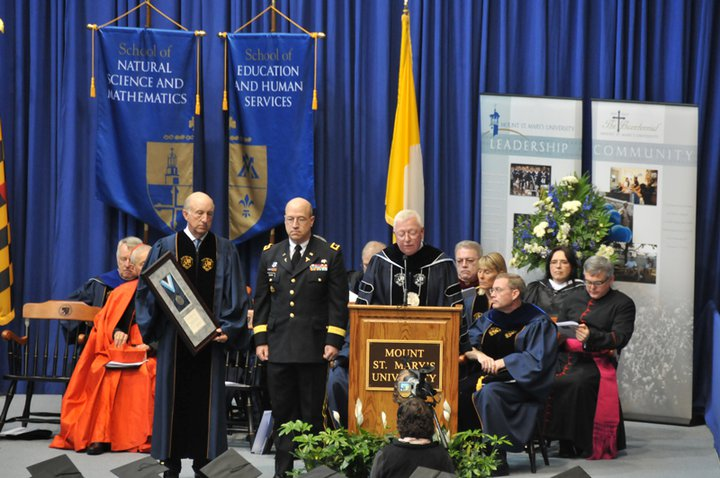Maj. Gen James Gilman during commencement ceremony