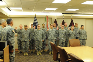 Mass Reenlistment Ceremony