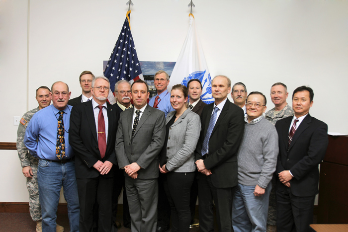 Representatives of the Swedish Defense Research Agency (FOI) with leaders and scientists of the USAECBC and the USAMRICD