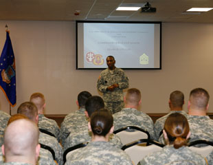 Professional Development session for junior enlisted Soldiers