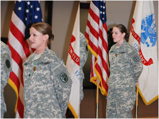 Sgt. Ester Collins and Spc. Angela Murphy