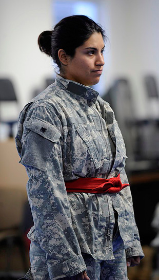 Sgt. Nydia Conder earned the 2009 USAMRICD's Soldier of the Year competition