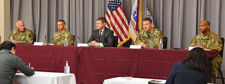 Secretary of the Army Visits USAMRDC, Touts COVID-19 Funding Boost